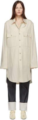 Lemaire Off-White Long Overshirt Coat