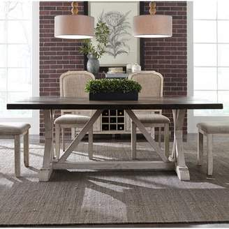 Gracie Oaks Beams Trestle Dining Table