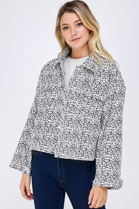 En Creme Dot Print Jacket