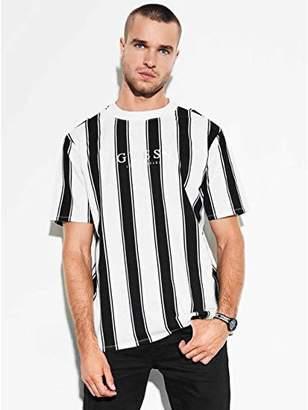 GUESS Men's Short Sleeve Walden Stripe Crew Neck Shirt Scuffy
