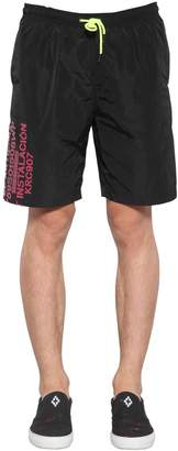 Marcelo Burlon County of Milan Contaminacion Tech Shorts