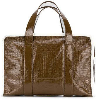 Kassl Editions check lined tote bag