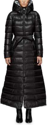 Mackage Calina Long Puffer Coat w/ Belt