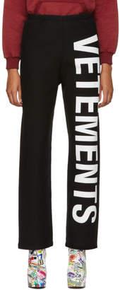 Vetements Black Logo Lounge Pants