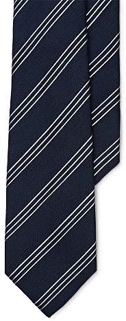 Ralph Lauren Purple LabelRalph Lauren Purple Label Striped Linen-Silk Tie