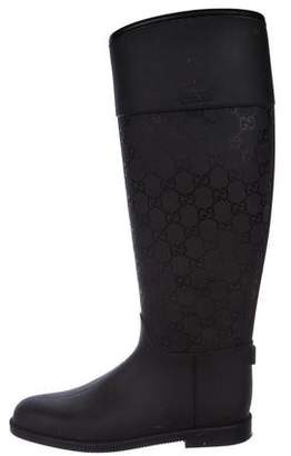 Gucci Rubber GG Boots