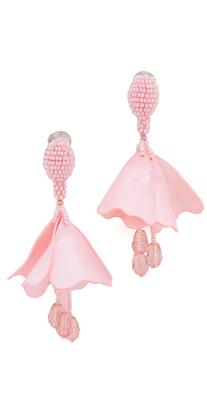 Oscar de la Renta Small Impatiens Drop Clip On Earrings $350 thestylecure.com