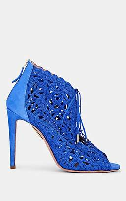 Aquazzura WOMEN'S KYA EMBROIDERED ANKLE BOOTIES