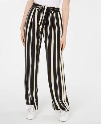 BeBop Juniors' Striped Tie-Waist Pants
