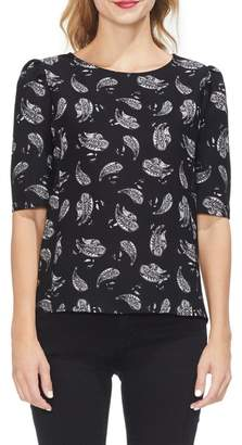 Vince Camuto Puff Sleeve Paisely Top