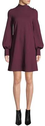 Kate Spade Ponte Long-Sleeve Mini Dress