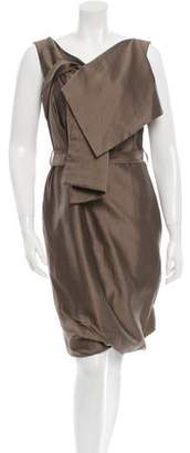 Pauw Sleeveless Draped-Accented Dress w/ Tags