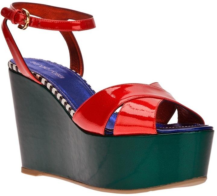 Sergio Rossi platform wedge sandal