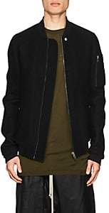 Rick Owens Men's Boiled Virgin Wool Bomber Jacket-Black