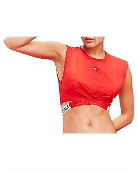 Tommy Hilfiger Cropped T-Shirt Twisted Detail