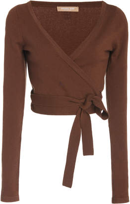 Michael Kors Cropped Cashmere Wrap Top Size: XS