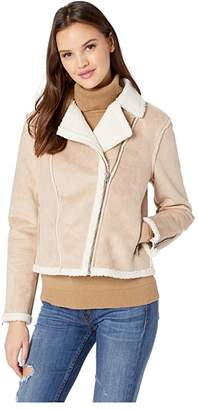 Cupcakes And Cashmere Burntel Faux Suede Moto Jacket
