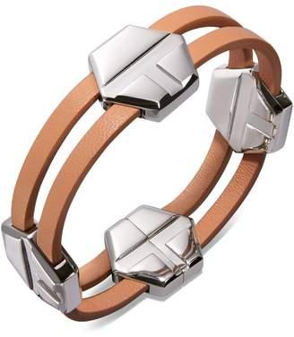 Reversible colorblocked leather bracelet Tory Burch 8K3hXjoO