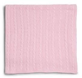 Rachel Riley Infant's Pink Cable-Knit Cashmere Blanket