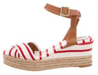 Tory Burch Peep-Toe Espadrille Sandals