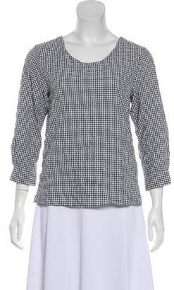 Steven Alan Gingham Short Sleeve Top