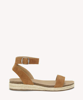 Lucky Brand Women's Garston Wedges Peanut Size 5 Suede From Sole Society