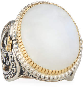 Konstantino Erato Large Oval Labradorite Ring, Size 7