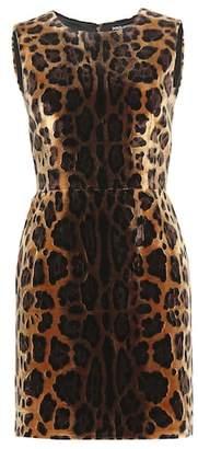 Dolce & Gabbana Leopard-print velvet dress
