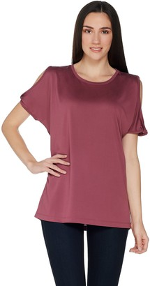 Lisa Rinna Collection Split Sleeve Knit Top