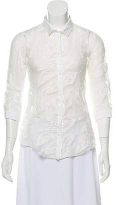 Cacharel Semi-Sheer Button-Up Top w/ Tags