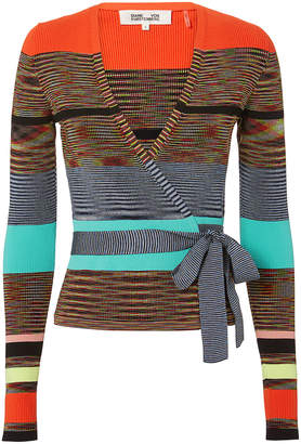 Diane von Furstenberg Cropped Wrap Sweater