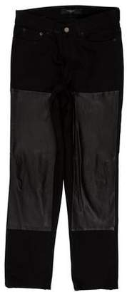 Givenchy Leather Accented Skinny Jeans