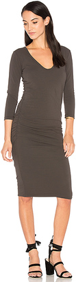 James Perse V Neck Skinny Dress in Charcoal $225 thestylecure.com