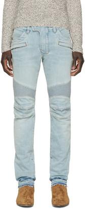 Balmain Blue Biker Jeans $1,380 thestylecure.com