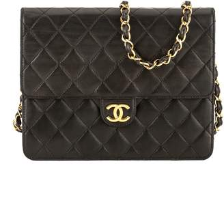Chanel Black Quilted Lambskin Leather Chain Clutch (3805004)