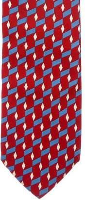 Burberry Geometric Print Silk Tie