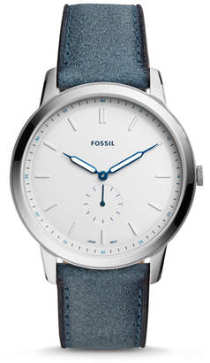 Fossil The Minimalist Two-Hand Blue Leather Watch
