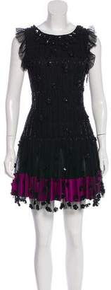 RED Valentino Beaded Lace Dress