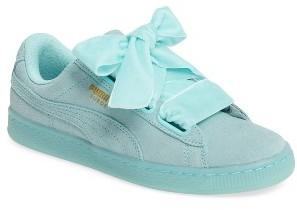 Women's Puma Suede - Heart Sneaker $79.95 thestylecure.com