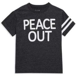 Chaser Little Boy's& Boy's Cotton-Blend Peace Out Tee
