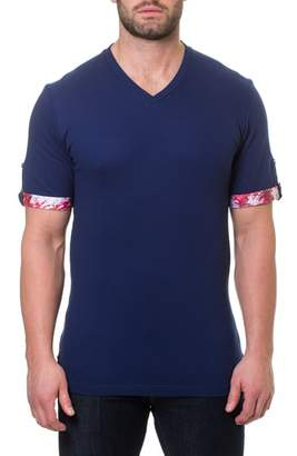 Maceoo Short Sleeve V-Neck Pique T-Shirt