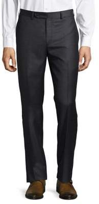Tailored Buttoned Wool Pants