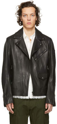 Belstaff Black Leather Fenway Jacket