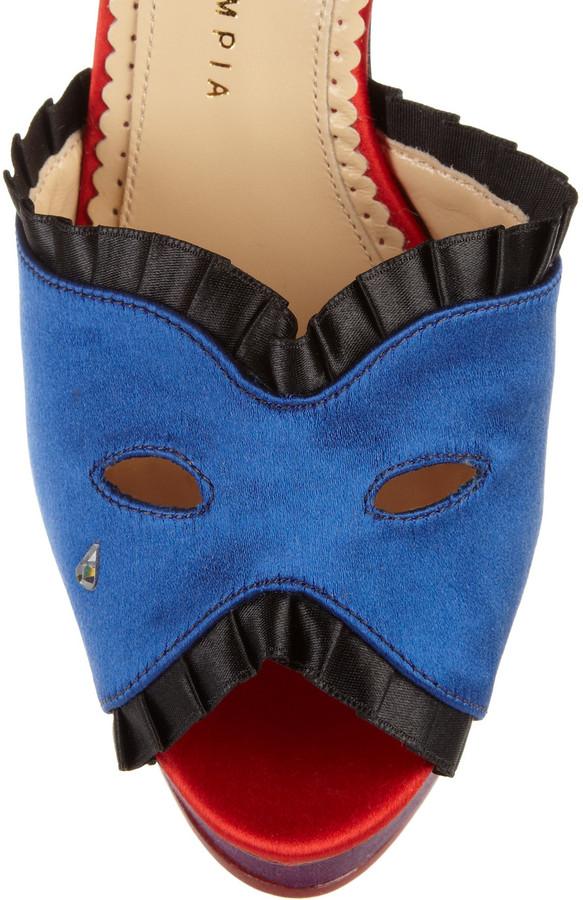 Charlotte Olympia Masquerade silk-satin pumps