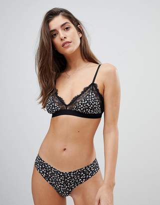 8a7f0b289b Gilly Hicks triangle bra in leopard   lace