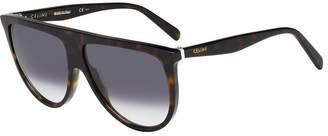 Celine CL41435S 086 Dark Havana CL41435S Aviator Sunglasses Lens Category 3 Siz