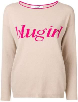 Blugirl logo knit sweater