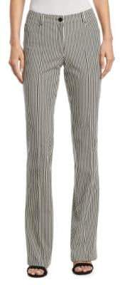 Akris Punto Faye Striped Denim Pants