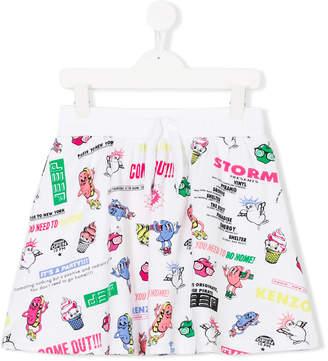 Kenzo drawstring waist printed shorts