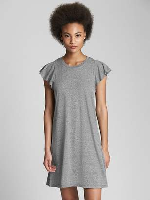 Gap Softspun Flutter Sleeve Swing Dress